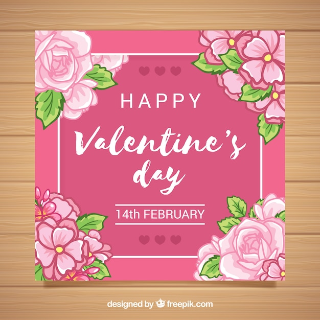 Valentine greeting with roses