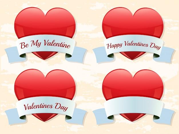 Valentine labels Free Vector