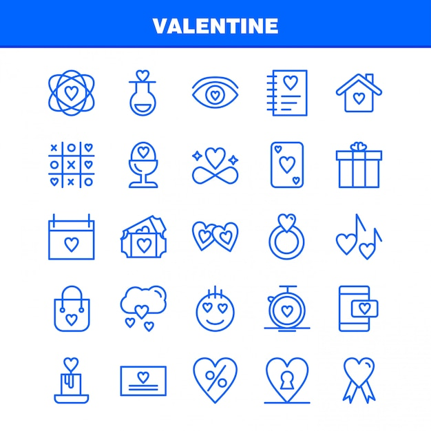Valentine line icon pack. icons of flask, love, romantic, valentine, love, gift, heart, valentine Free Vector