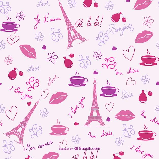 As Creation Pink Paris Pattern Eiffel Tower Childrens: Valentine Paris Pattern Vector
