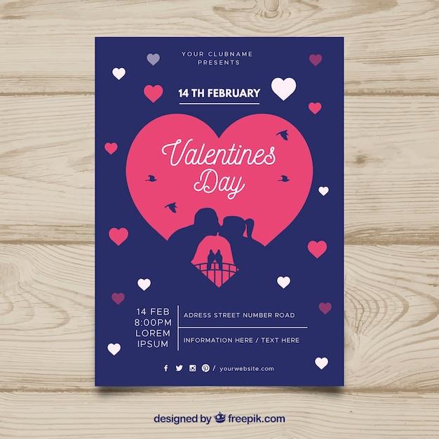 Valentine party invitation Free Vector