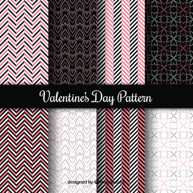 Valentine pattern collection Free Vector