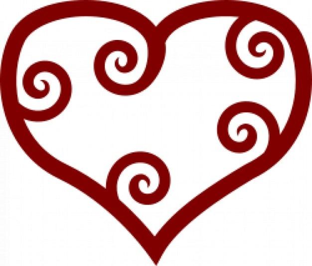 Валентина красный маори сердце Бесплатные векторы
