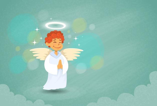 Valentine's angel Premium Vector