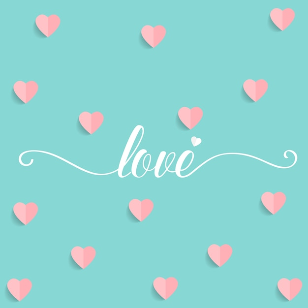 Valentine's background design Free Vector