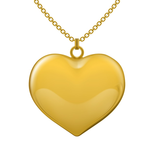 Necklace on Transparent Gold Chain