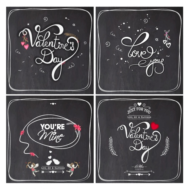 Valentine's background design Premium Vector
