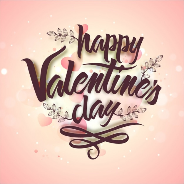Valentine's background design Premium Vector
