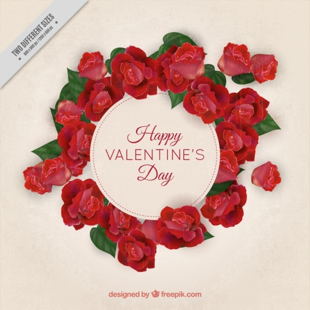 Valentine\'s background with floral frame