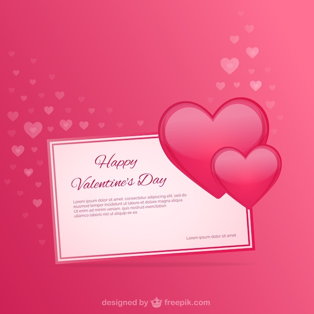 Valentine's card template Vector | Free Download