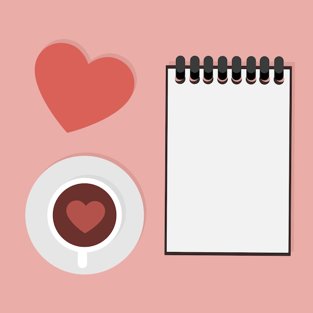 Valentine's card with dedication to write Premium Vector