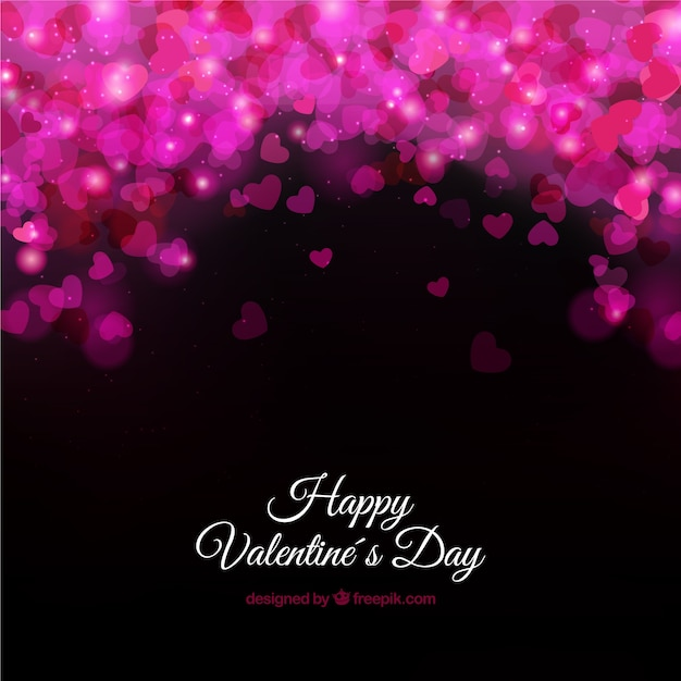 Valentine\'s card with glossy hearts
