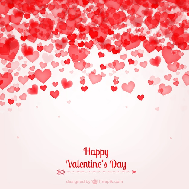 Valentine\'s card with hearts