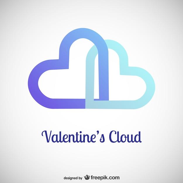 Valentine's cloud Premium Vector