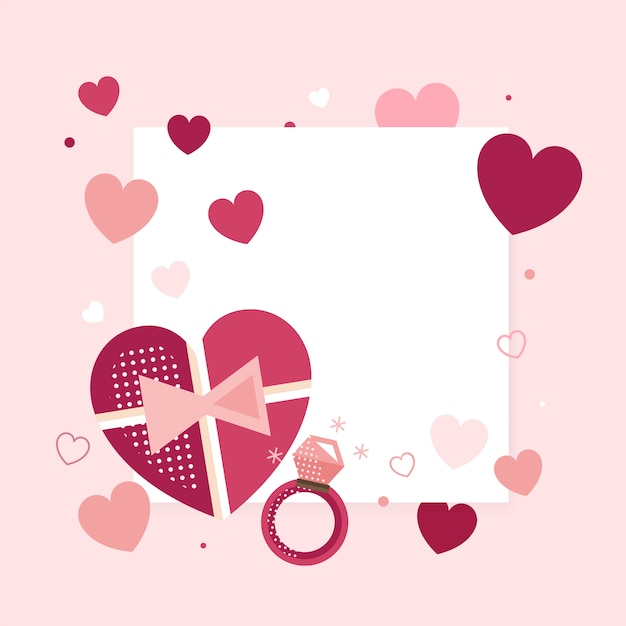 Valentine's day 14th of february vector Free Vector