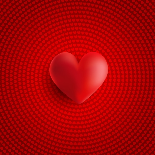 Valentine's day 3d heart Free Vector