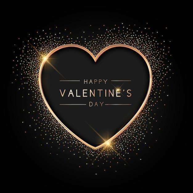 Stile di sfondo dorato di san valentino Vettore gratuito