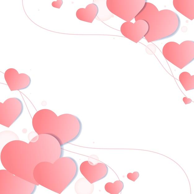 Valentine's day background illustration Free Vector