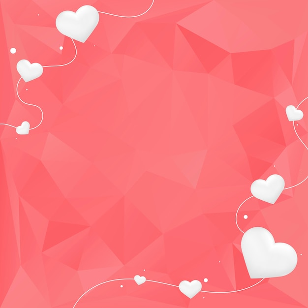 Valentine's day background illustration Free Vector