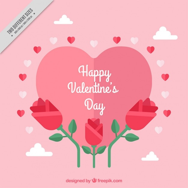 valentine's day background with beautiful flowers vector | free, Ideas