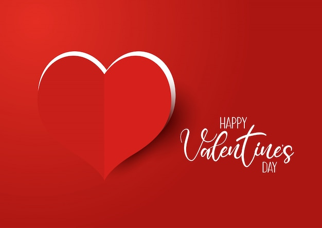 Valentine S Day Background With Cut Out Heart Vector Free Download