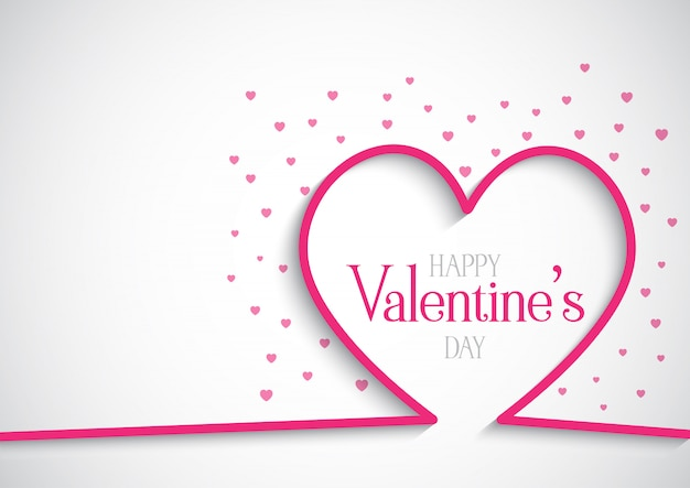 Valentine's day background with hearts Free Vector