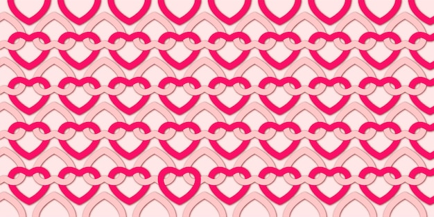 Valentine's day background with lovely hearts pattern Free Vector