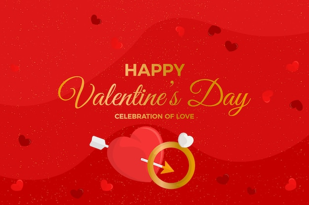 Valentine's day background with wedding ring Free Vector