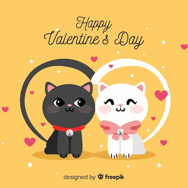 Valentine's day background Free Vector