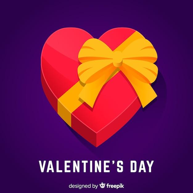 Valentine's day background Free Vector