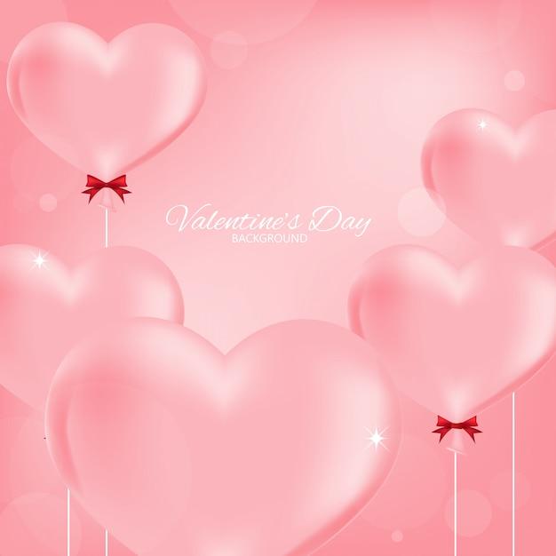 Valentine's day background. Premium Vector
