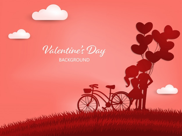 Valentine's day background. Premium Vector
