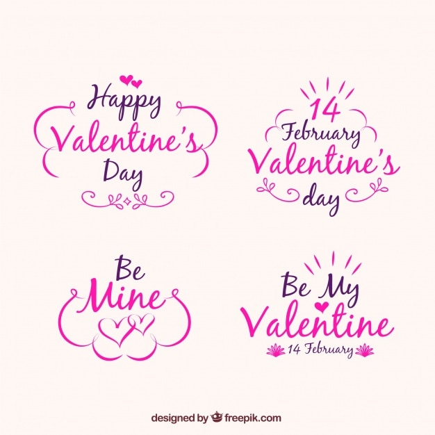 Valentine\'s day badge collection