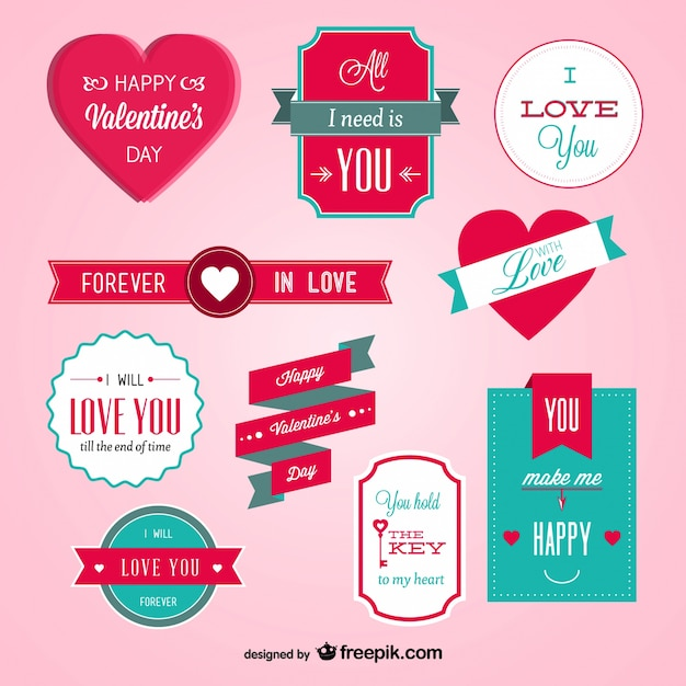 Valentine S Day Badges Vector Free Download