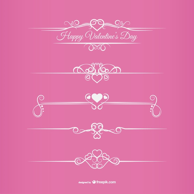 Valentine\'s Day borders