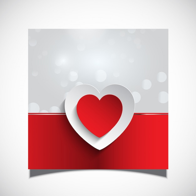 Valentine's day card background Free Vector