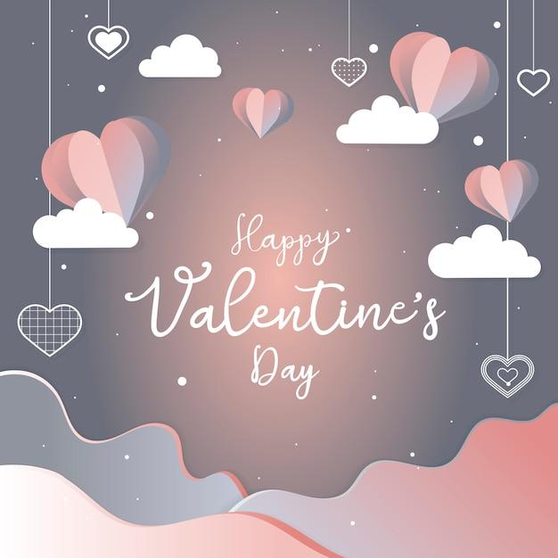 Valentine's day card illustration Free Vector
