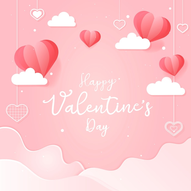 Valentine's day card illustration Free Vector