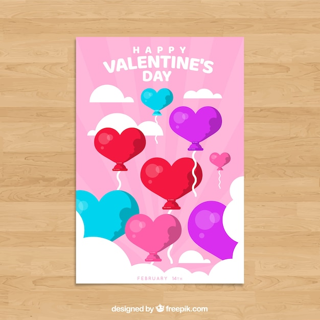Valentines day card template vector free download valentines day card template free vector pronofoot35fo Choice Image