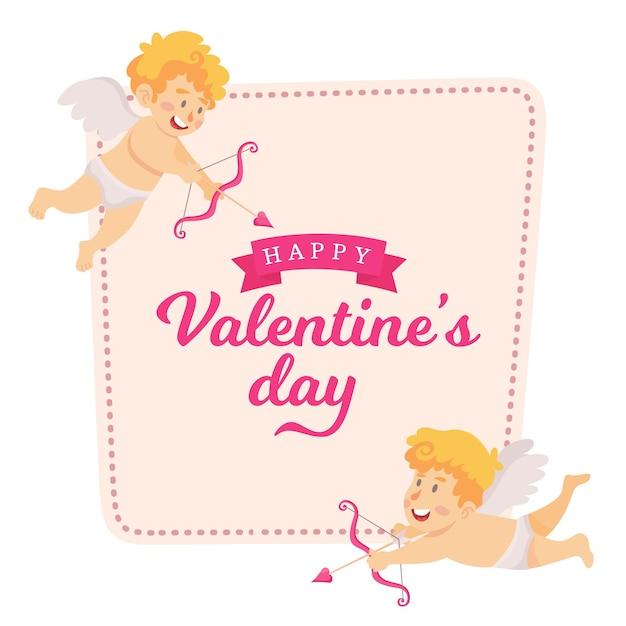 Valentine's day card vector illustration Premium Vector
