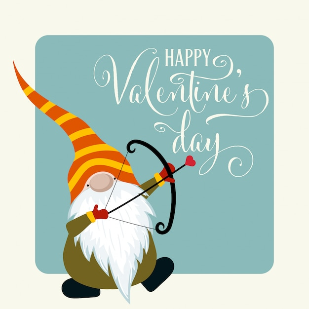 Valentine's day card Premium Vector