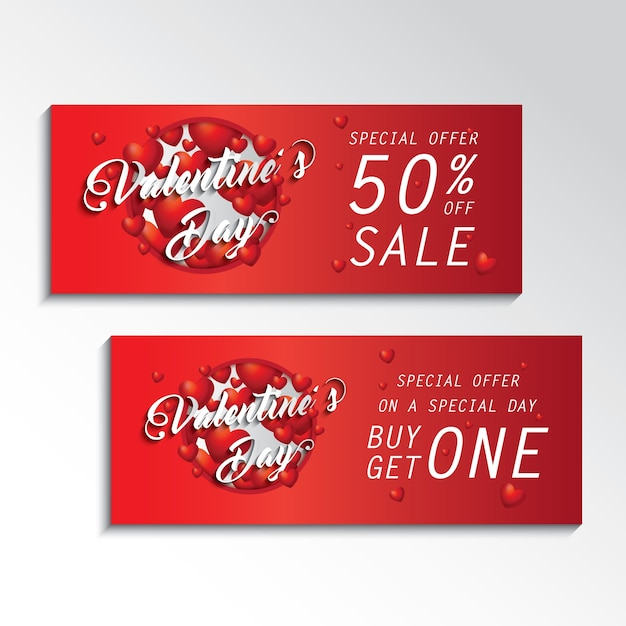 ValentineS Day Coupon Sale Vector  Premium Download