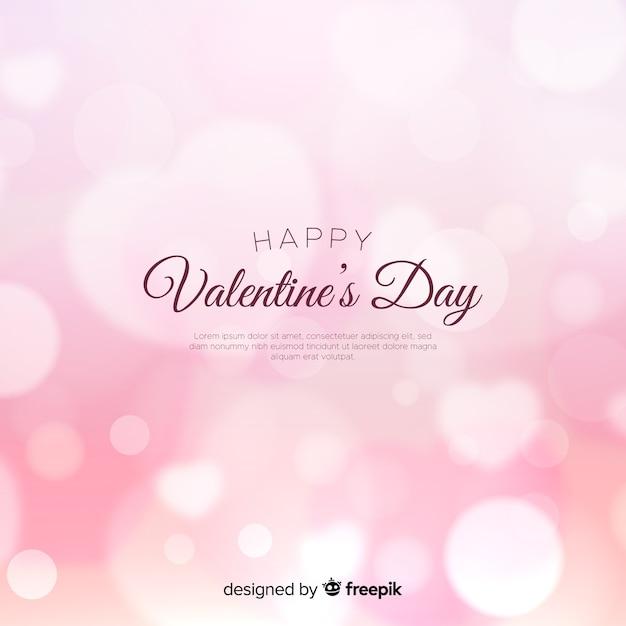 Valentine's day dazzling background Free Vector