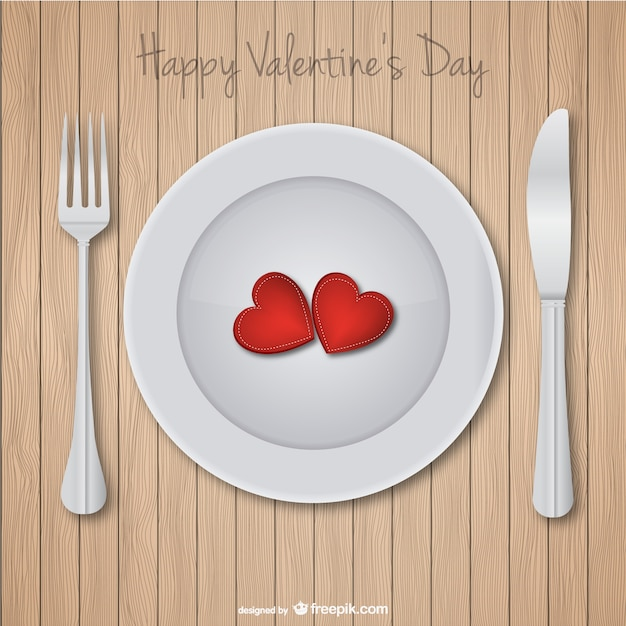 Valentine\'s day dinner card