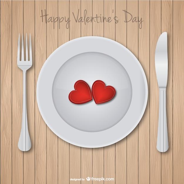Valentine\'s day dinner card