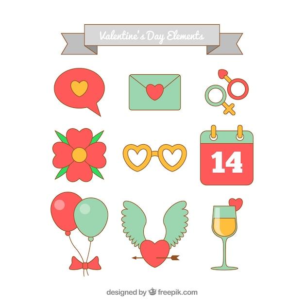 Valentine\'s day element collection