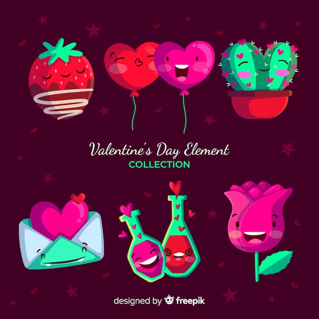 Valentine S Day Element Collection Vector Free Download