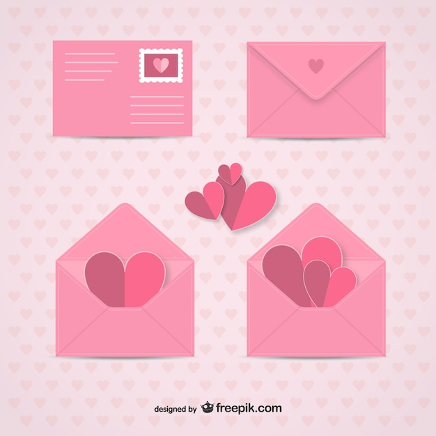 Valentine S Day Envelopes Vector Free Download