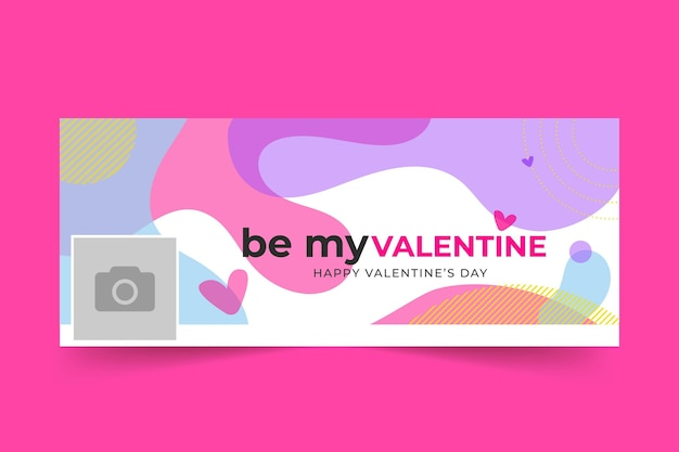 Valentine's day facebook cover Free Vector