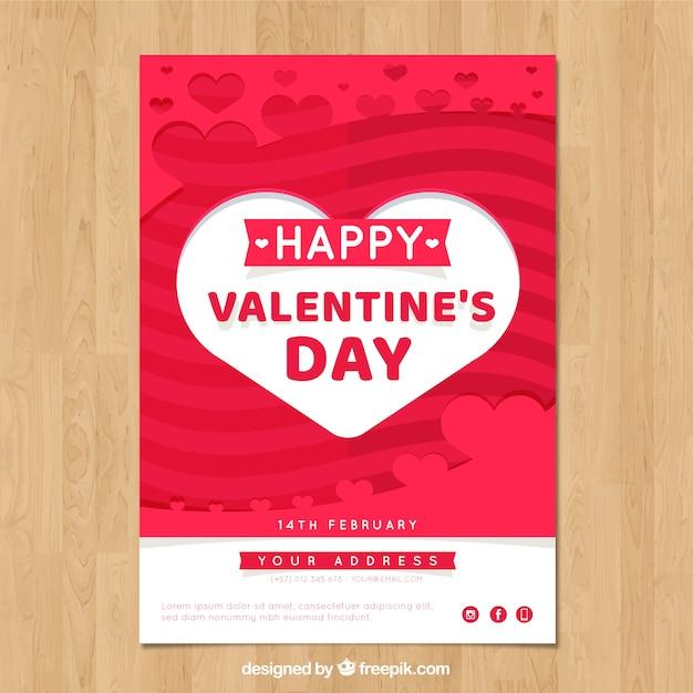 Valentines Day Flyer Template Free   Valentine S Day Flyer And Poster Template Vector Free Download